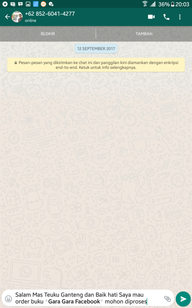 Auto order whatsapp